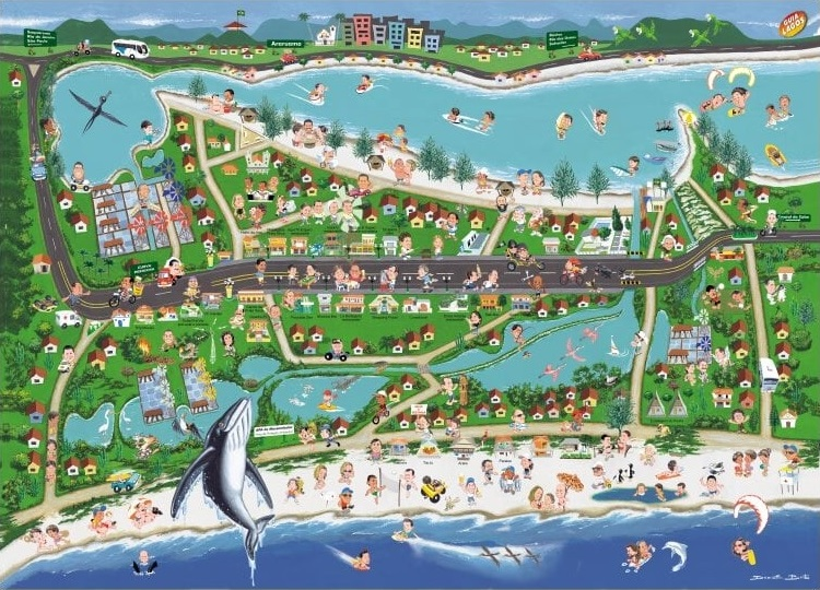 Mapa Praia Seca