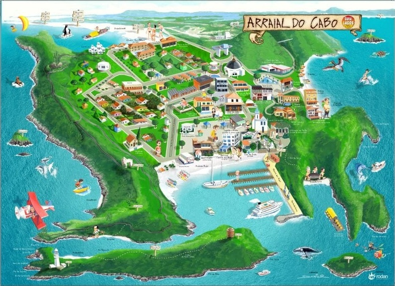 Mapa Arraial do Cabo