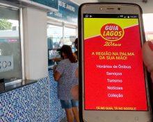 App Guia Lagos disponibiliza serviços, atrativos e todos os horários de ônibus da Região dos Lagos