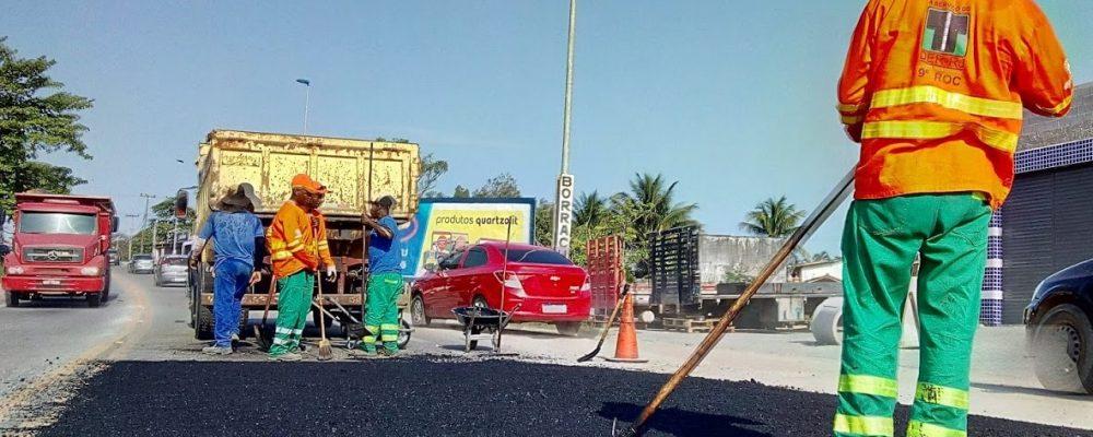 Operação tapa-buraco abrange mais de 400 km de rodovias na Região dos Lagos e arredores